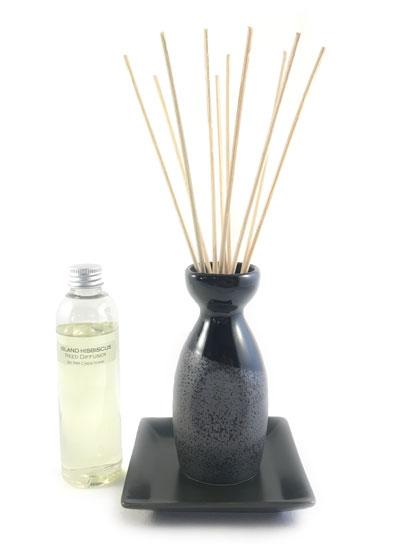 Sake Bottle Reed Diffuser Set - Black