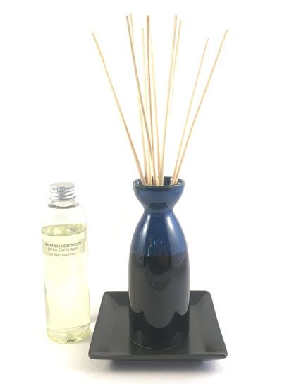 Sake Bottle Reed Diffuser Set - Black/Blue